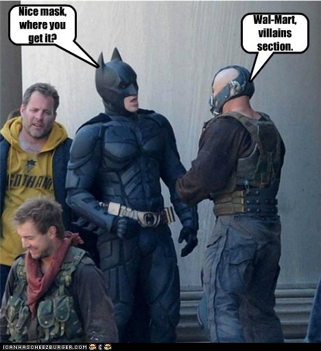 bane batman christian bale mask the dark knight rises tom hardy - 6036613632