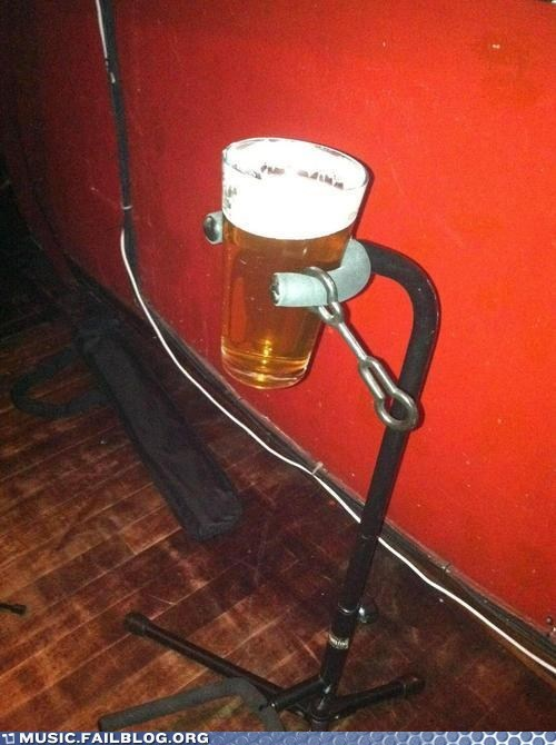 alcohol,beer,drinking,g rated,guitar holder,guitar stand,Music FAILS