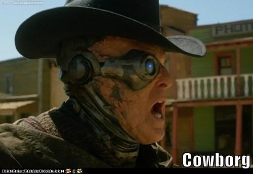 alien,borg,cowboy,doctor who,season 7,the doctor,wild west