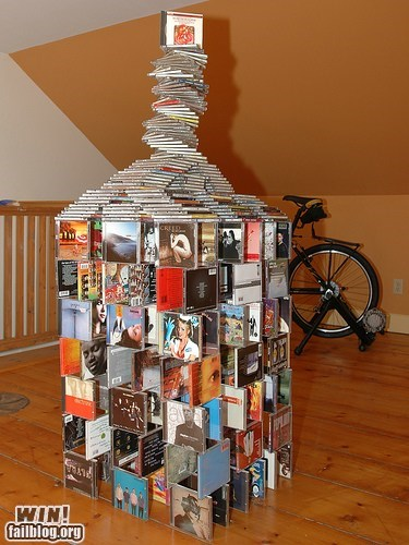 CD,Music,stacking,tower