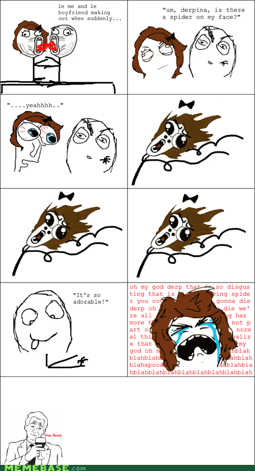 making out,omg run,Rage Comics,spider
