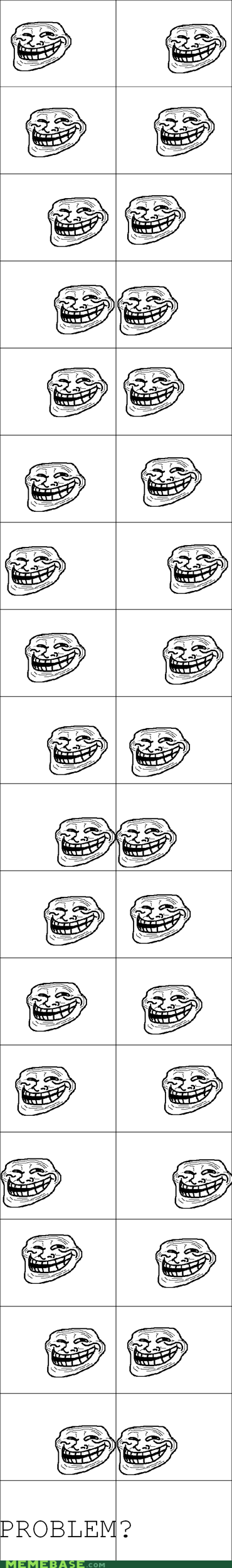 optical illusion problem Rage Comics troll face - 6037218560