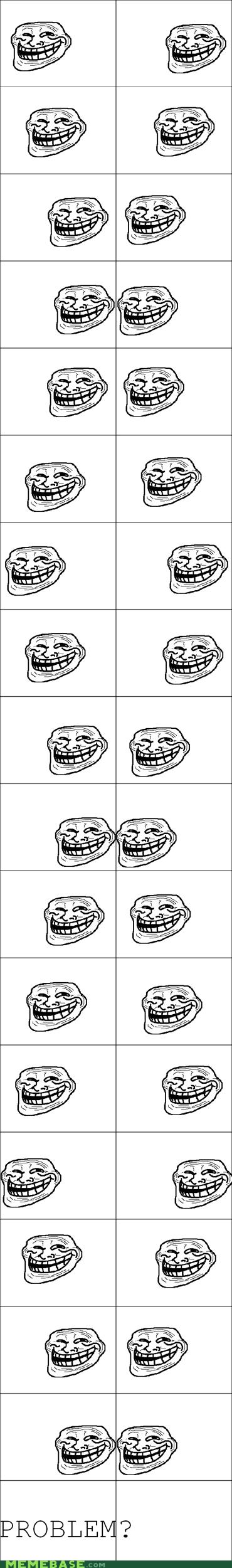 optical illusion problem Rage Comics troll face - 6037218560