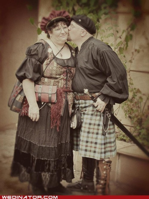 funny wedding photos kilts medieval - 6037322240
