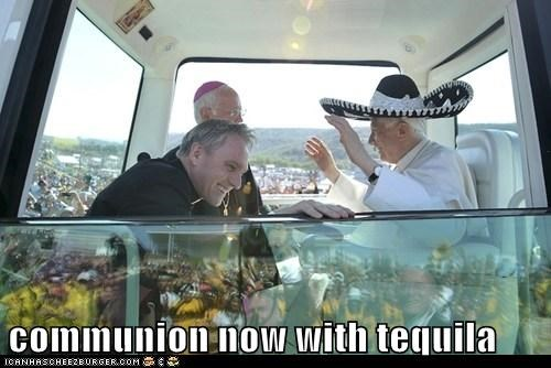 Hall of Fame,political pictures,Pope Benedict XVI,sombrero,tequila