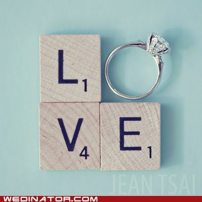 engagement funny wedding photos game love marriage ring scrabble