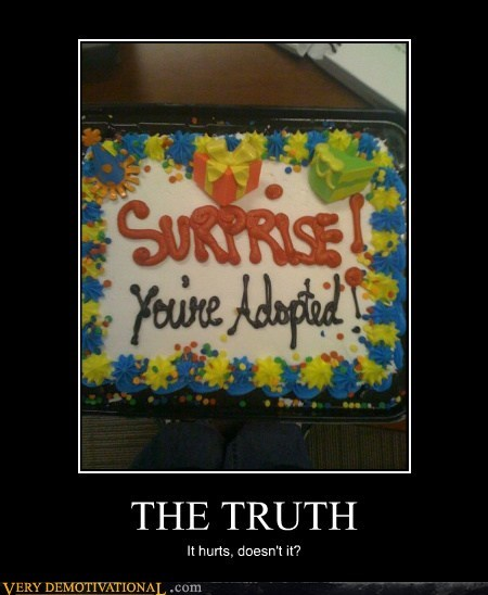 adopted,cake,hilarious,surprise