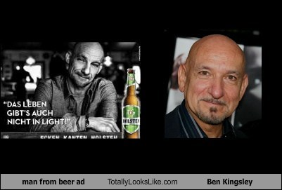 actor,Ad,beer,Ben Kingsley,celeb,funny,man,TLL