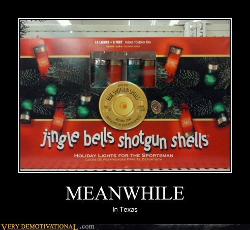 christmas tree,hilarious,Meanwhile,shotgun shells,texas,wtf