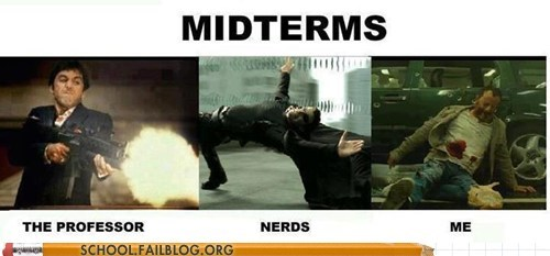 im-hit,me,midterms,nerds,the professor