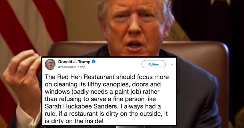 twitter trolling donald trump restaurant food fast food politics - 6039813