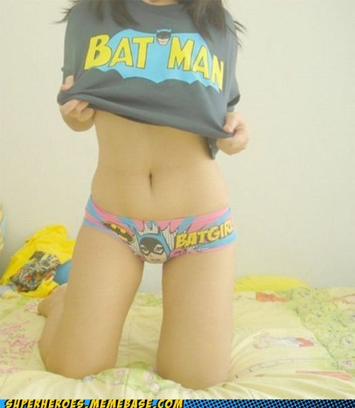 batman panties Random Heroics Sexy Ladies T.Shirt - 6039821568