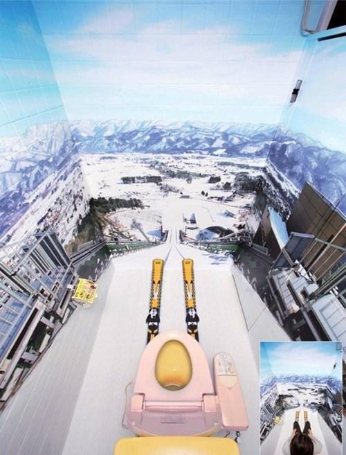 bathrooms skis ski jumps - 6039924992