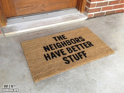 design door mat g rated Hall of Fame home security robber theft win