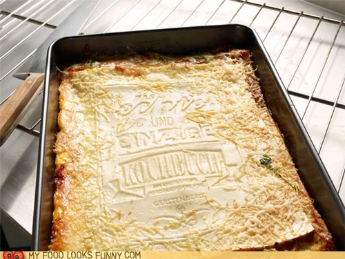 cook cookbook edible lasagna noodles pages