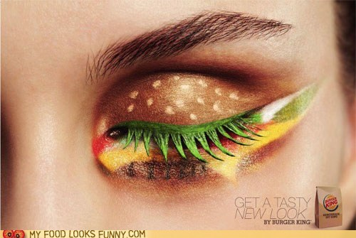 art,burger,eye,makeup