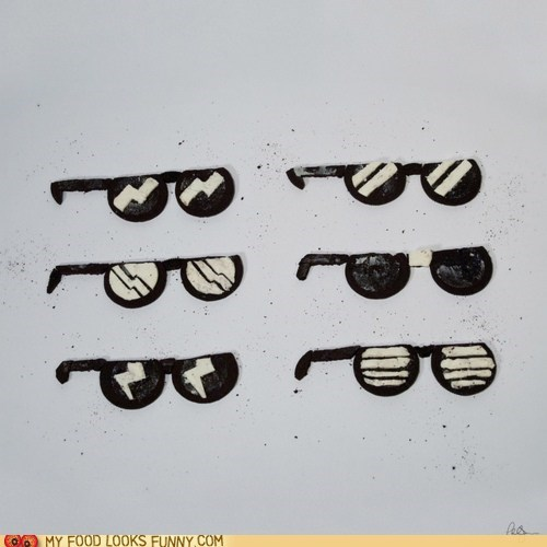 chocolate cookies cream Deal With It Oreos sunglasses - 6040300288