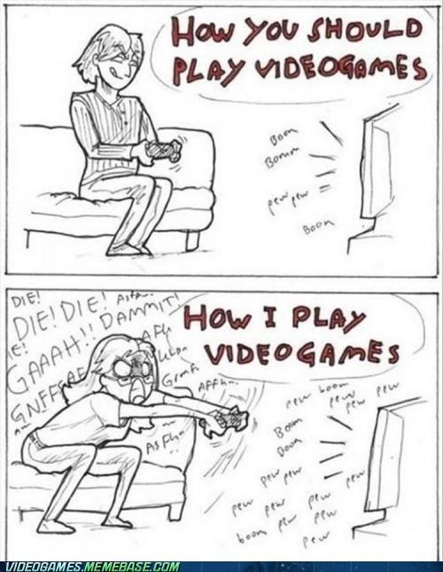 comic die rage shut up video games - 6040464384