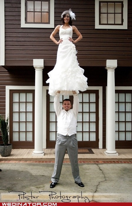 cheer cheerleader exercise funny wedding photos pose - 6040482304