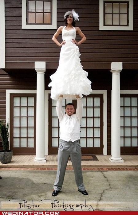 cheer cheerleader exercise funny wedding photos pose - 6040482304
