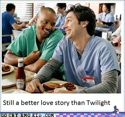 best of week,scrubs,still a better love story,TV,twilight,weird kid