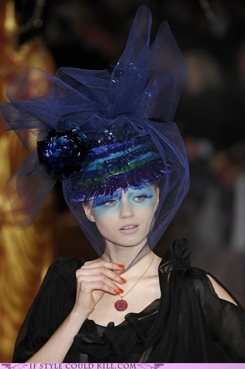 cool accessories,hats,john galliano,runway