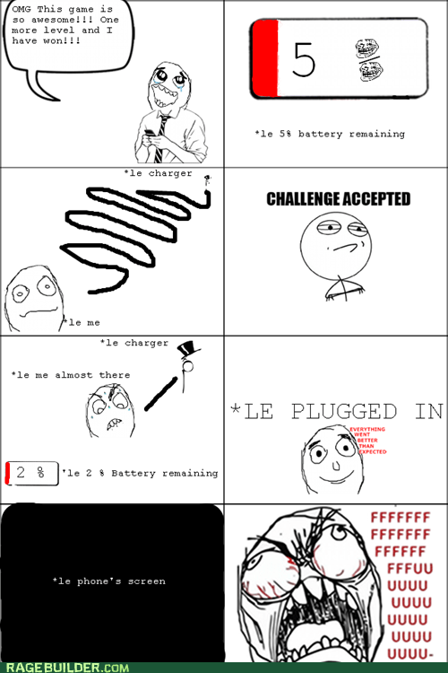 battery Challenge Accepted fu guy Rage Comics - 6040601088