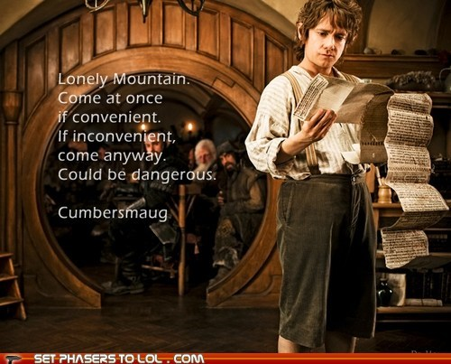 bennedict cumberbatch,best of the week,Bilbo Baggins,lonely,Martin Freeman,mountain,smaug,The Hobbit