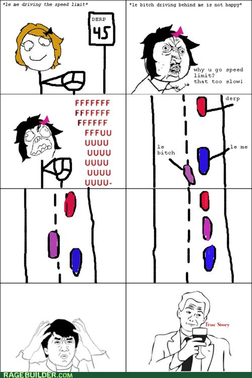 car driving passing Rage Comics true story - 6040803328
