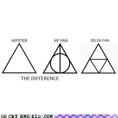 Harry Potter hipster photography hipsterlulz triangles zelda - 6040873984