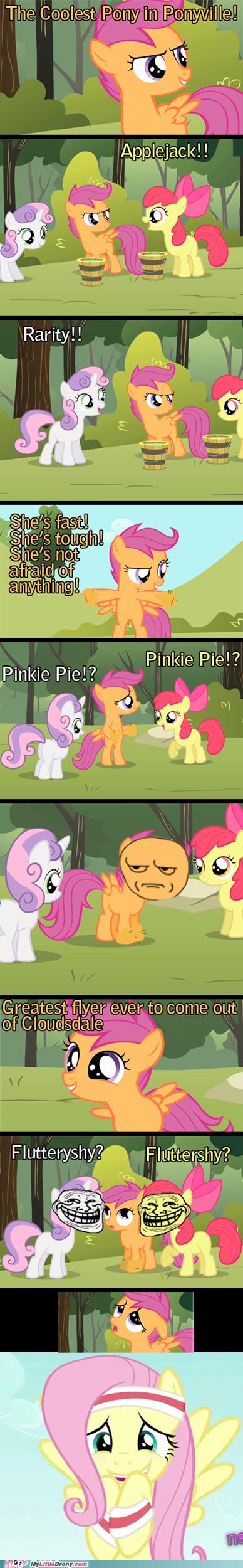 applejack comic comics fluttershy ponyville trolling - 6041001216