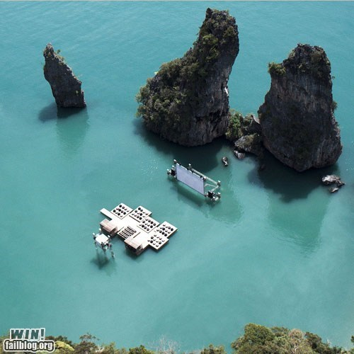 architecture,design,movie theater,thailand,water