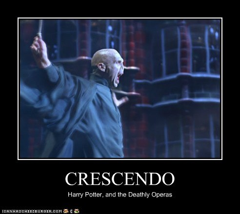 crescendo deathly hallows Harry Potter Music opera ralph fiennes voldemort - 6041797120