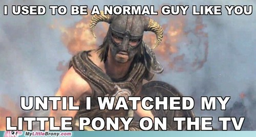 arrow to the knee dovahkiin meme my little pony Skyrim TV