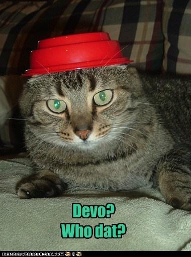 confused Devo flower pot hat resemblance similar - 6042627584