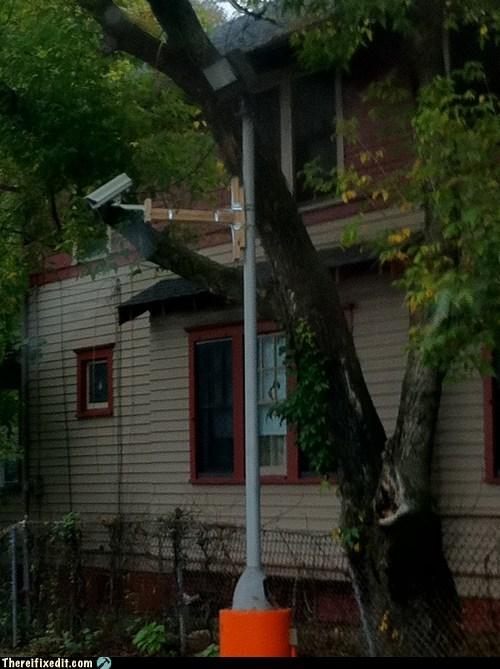 CCTV pole security camera - 6043376384