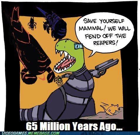 dinosaurs lesser races mammals mass effect mass effect 3 reapers - 6043856640