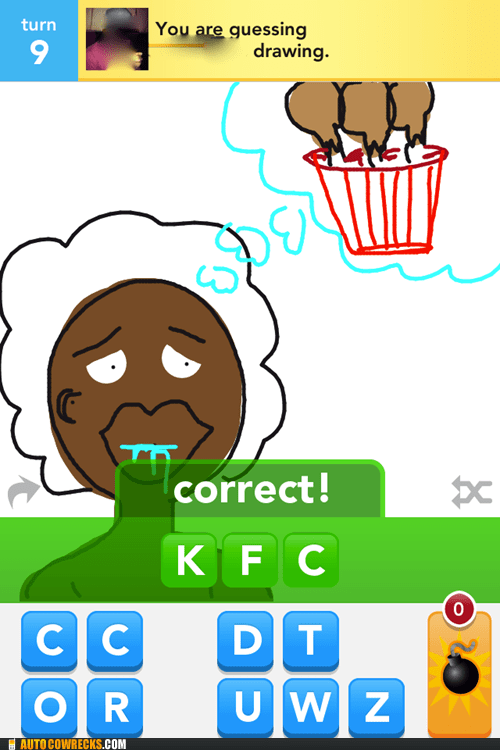 draw something,kfc,racist