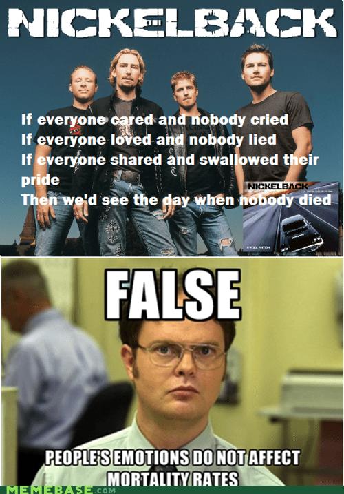 Death dwight emotions love Memes mortality nickelback - 6044182016