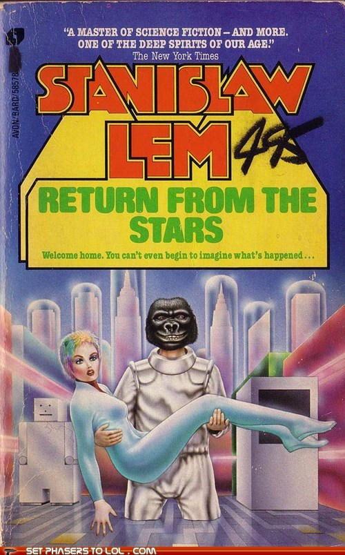book covers,books,cover art,Party,science fiction,stanislaw lem,stars,utopia,wtf