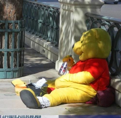 mascot,suit,vodka,winnie the pooh