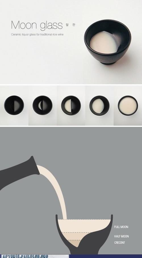 design moon power goblet shot glass - 6044523008