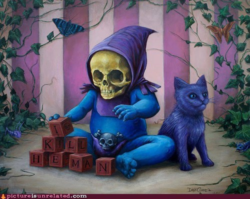 baby cartoons Heman skeletor wtf
