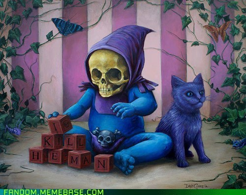 baby,cute,Fan Art,he man,skeletor