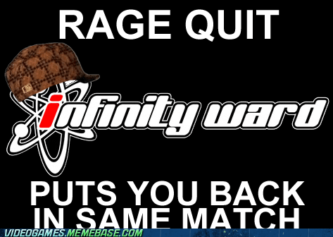 call of duty infinity ward meme rage quit scumbag hat