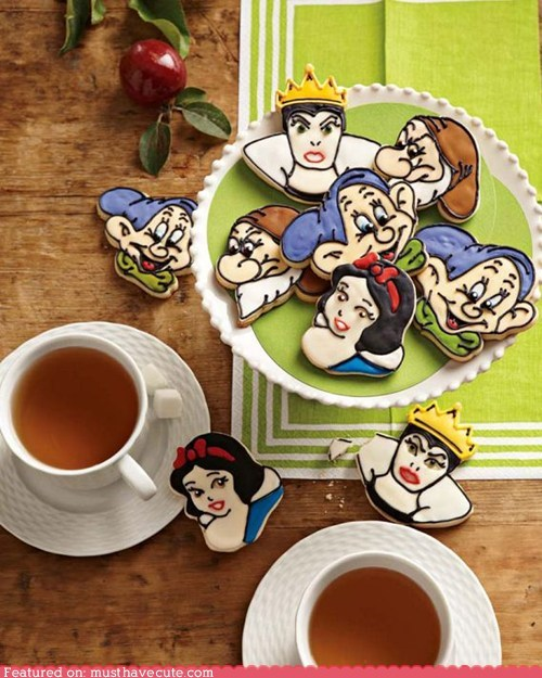 characters,cookies,disney,epicute,icing,snow white