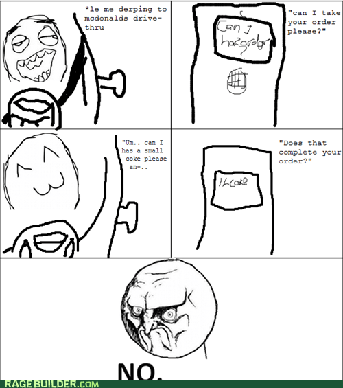 drive thru no order Rage Comics - 6044873728