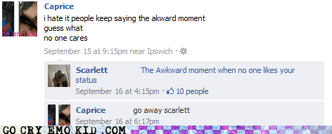 facebook,status,That Awkward Moment When,weird kid
