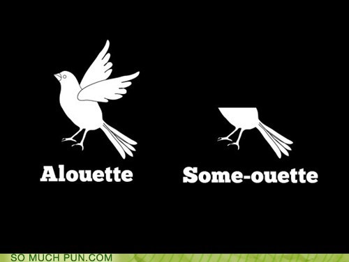 all,alouette,french,Hall of Fame,literalism,prefix,similar sounding,some,song,swallow