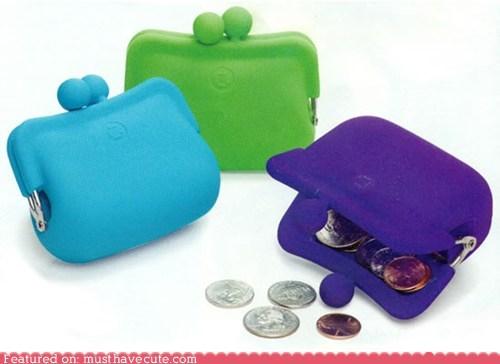 bright cartoons coin purse rubber wallet - 6045138432